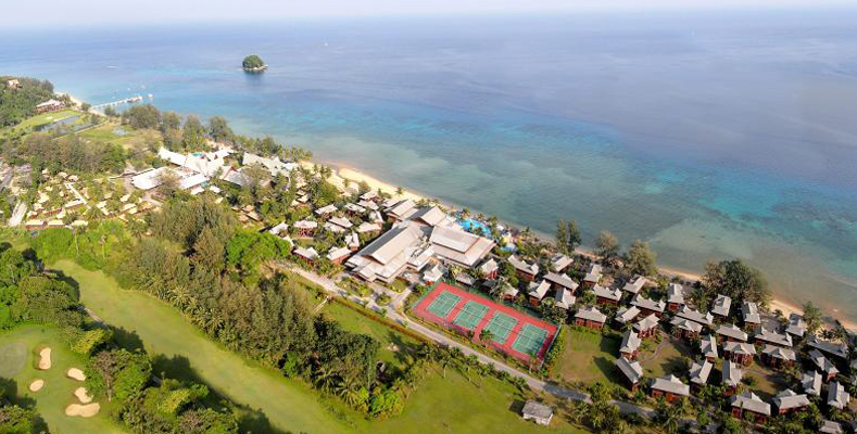 Berjaya Tioman Resort - Resort Aerial View - Miles of Sandy Beaches